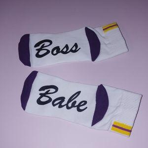 Boss Babe Novelty Ankle Socks